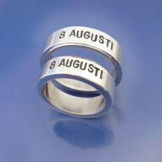 <3 Personliga silverringar, #förlovningsringar eller #vigselringar