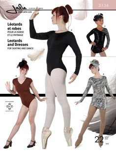 Purchase the Jalie 3136 Leotards and Dresses sewing pattern and read its pattern reviews. Find other Costumes, Activewear, Kids(boys & girls) sewing patterns.