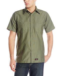 e1146d7e Wrangler Workwear Men's Work Shirt, Black, Small at Amazon Men's Clothing  store: Button Down Shirts
