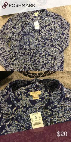 J. Crew shirt. Half way button down super nice shirt. Nice airy fabric. J. Crew Tops Tunics