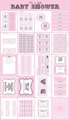 Girl Baby Shower Party Printables