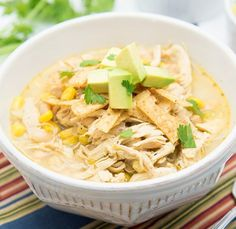 White Chicken Chili | Easy and Tasty Shredded Chicken Recipes for a Perfect Family Meal by Homemade Recipes.