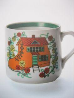 Arabia Coffee Cups And Saucers, Marimekko, Scandinavian Style, Ceramic Pottery, Finland, Childhood Memories, Retro Vintage, Nostalgia, Kitchenware