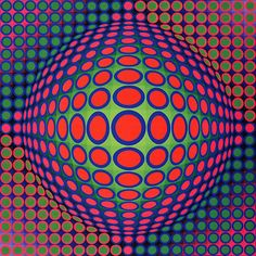 visual illusions by Victor Vasarely