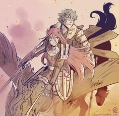 Cordelia and Stahl. I'm so happy I'm not the only one that loves Stahl in Swordmaster form.
