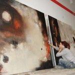 Conny Niehoff in her studio