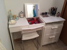 My DIY Make up vanity  using IKEA Brimne dressing table & drawer set  (pic 2)