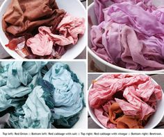 Poppytalk: DIY: Natural Dye with beet, cabbage and red onion skims