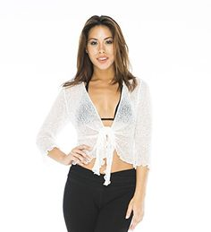 Back From Bali Womens Sheer Shrug Cardigan Lightweight Knit *** Learn more by visiting the image link.