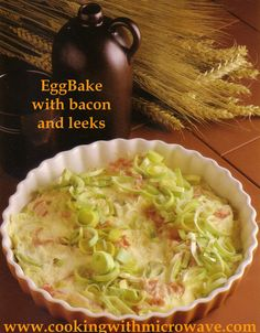 Egg Bake with bacon and leeks for microwave