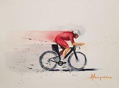 Original Bicycle Painting by Javier Lampreave Watercolor Journal, Watercolor Drawing, Painting & Drawing, Watercolor Paintings, Watercolor Ideas, Bicycle Painting, Bicycle Art, Original Art, Original Paintings