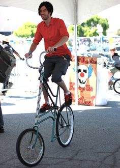 Bike Handsome looked very cool on the tall bike. | Shared from http://hikebike.net