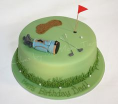 Golf cake I Love (This is an affiliate link) You can get even more details by clicking on the image. Golf Birthday Cakes, Golf Cakes, 90th Birthday, Cake Cookies, Cupcake Cakes, Cupcakes, Retirement Cakes, Early Retirement, Dad Cake