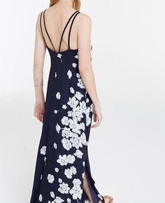 Image of Stenciled Floral Maxi Dress