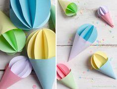 Sommerdeko: DIY Eis Anhänger aus Papier