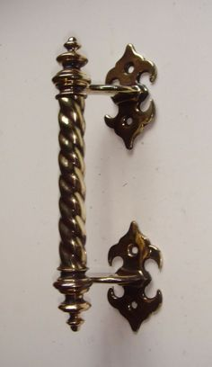 Original Victorian Gothic Brass Door Pull Handle