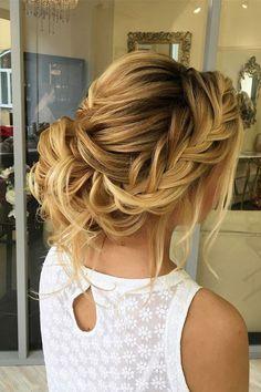 elstile wedding hairstyles braided updo blond hair elstile