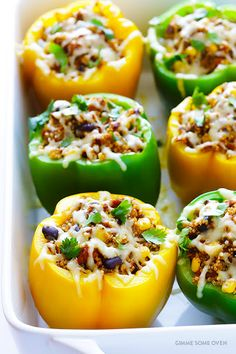 5-Ingredient Mexican Quinoa Stuffed Peppers Recipe on Yummly. @yummly #recipe