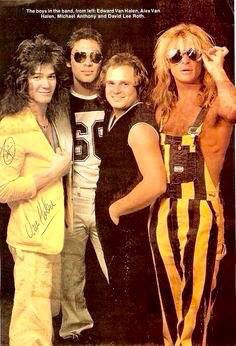 Oh Damn!! Van Halen ❤️   Eddie and Alex Van Halen  Michael Anthony and David…