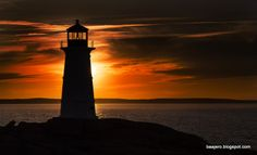 The famous peggy's cove lighthouse