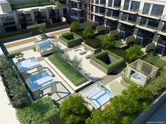 Ironstone Condominiums rooftop garden and lounge area #landarch #sdg