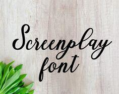 This item is unavailable Cursive Fonts, Calligraphy Fonts, Monogram Fonts, Otf Font, Wedding Fonts, Retro Font, Cricut Fonts, Scripts