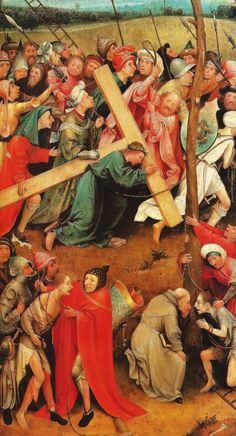 Hieronymus Bosch, Cristo con la cruz a cuestas. Hacia 1500; óleo sobre tabla, 57,2x32cm. Viena, Kunsthistorisches Museum.