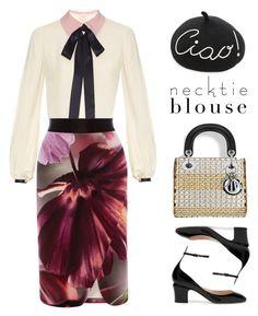 """Fall Trend: Necktie Blouse"" by stavrolga ❤ liked on Polyvore featuring Valentino, Roksanda, Eugenia Kim and Coast"