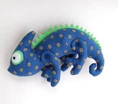 chameleon plush toy cotton toy gift for kid patchwork styled