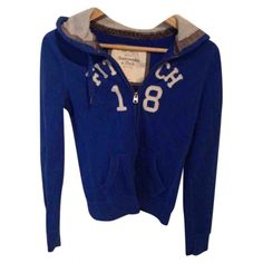 Pre-owned Abercrombie & Fitch Sweater ($43) ❤ liked on Polyvore featuring tops, sweaters, blue, abercrombie fitch top, blue top, abercrombie fitch sweaters and blue sweater