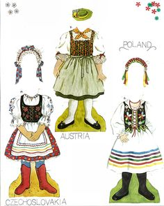 European crafts, Miss Missy Paper Dolls: Traditional Folk Costumes of Europe