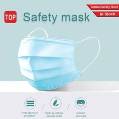 The 3 ply non-woven disposable mask is made of 3 ply non-woven material, it is healthy and safe for you to use. Breathable material and cute patterns, which makes it useful and fashionable. Elastic ear loop, easy to wear and no pressure to the ears. Blue Face Mask, Face Masks, Flu Mask, Flu Prevention, Safety Mask, Disposable Gloves, Protective Mask, Influenza, Mouth Mask