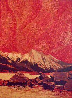 """Medicine Lake at Jasper"" 36 x Acrylic on Canvas; Staple back 2015 Artist: Rhonda Lund Lund, Rocky Mountains, Jasper, Medicine, Canvas, Abstract, Artwork, Artist, Painting"