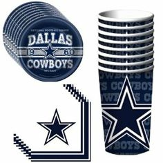 dallas cowboys party ideas | toys games party supplies party packs