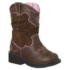 Toddler Girls Cowgirl Boots. McKinley needs these! So cute!