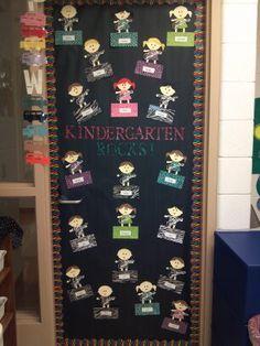 Rock Star Themed Classroom door