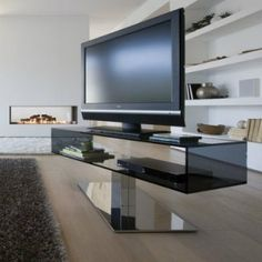 tvs, metals and design on pinterest - Meuble Tv Pivotant Design