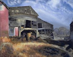 Stuart Jones' Barn. George Wesley Bellows was an American realist painter, known for his bold depictions of urban life in New York City and boxers.