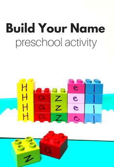 Learn to spell your name through building! Great preschool name activity. Learn to spell your name through building! Great preschool name activity. Preschool Behavior, Preschool Names, Preschool Literacy, Preschool Lessons, In Kindergarten, Preschool Learning Toys, Preschool Centers, Preschool Education, Literacy Centers
