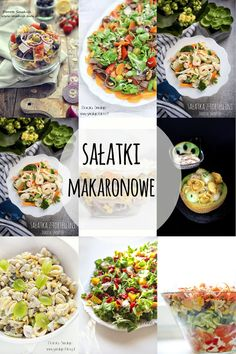 sałatka_makaronowa Pasta Salad, Cobb Salad, Tortellini, Ethnic Recipes, Food, Crab Pasta Salad, Essen, Meals, Yemek