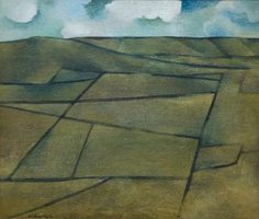 Colin McCahon Cubist Artists, Cubist Paintings, Flower Paintings, Landscape Artwork, Abstract Landscape, Auckland Art Gallery, New Zealand Landscape, New Zealand Art, Nz Art