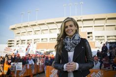 College football officially begins this Saturday (as if we could ever forget), and we chatted with ESPN reporter Samantha Ponder on all things pigskin. Ponder appears on ESPN College GameDay and Co...