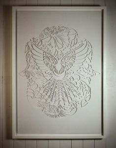 LACE FANTAIL IN THE CUT | Handcut Stencil: By commission | Flox.co.nz
