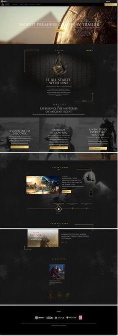 Assassin's Creed Origins - Website Design