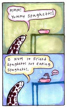 Snakes, spaghetti