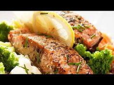 ¿Cómo hacer Salmón al cilantro y limón? /How to make Salmon with cilantr. Salmon Potato, Fried Salmon, Tasty, Yummy Food, Cooking Recipes, Healthy Recipes, Tilapia, Spanish Food, Cilantro