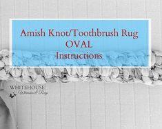 Custom Mini Rug Starter Kit with Tool/Amish Knot Toothbrush Rag Rug starter with tool/Rug Instructions/DIY Rug Kit Oval Rugs, Round Rugs, Diy Bed Sheets, Toothbrush Rug, Rag Rug Diy, Laundry Room Rugs, Braided Rag Rugs, Rag Rug Tutorial, Gingham Fabric