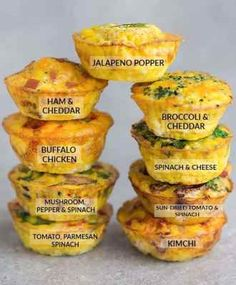 Breakfast Egg Muffins are the perfect low carb & keto breakfast for on the go. They're easy to make ahead for meal prep, busy mornings & holiday brunch. Low Carb Keto, Low Carb Recipes, Cooking Recipes, Healthy Recipes, 7 Keto, Keto Meal, Gf Recipes, Cooking Food, Salad Recipes