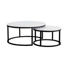 Marble Bord Medium, Hvit | Marble accent table, Marble
