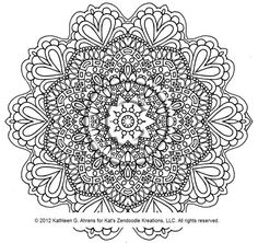 Instant PDF Download Coloring Page Hand Drawn by KatsLoveKreations, $2.20